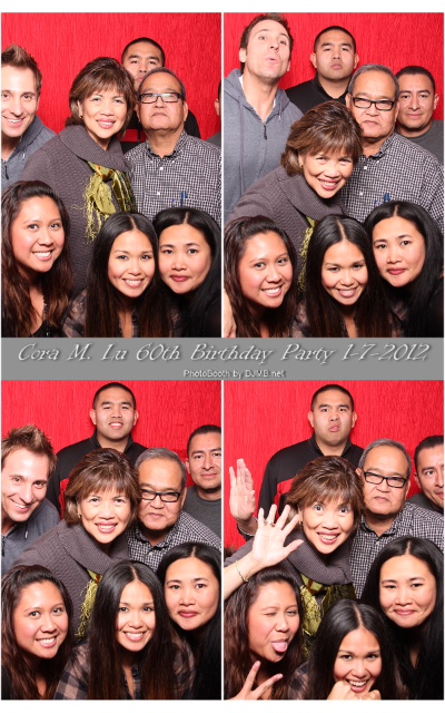 A family photo booth