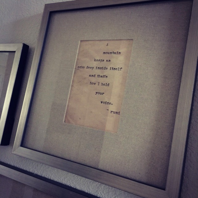 Framed Love Poem Close Up