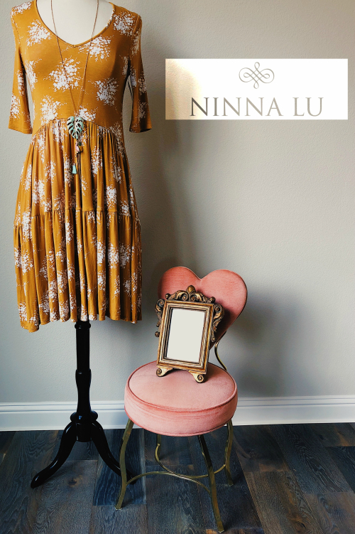 Mustard Dress Display