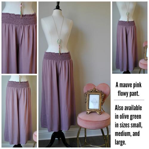 Pink Flowy Pant