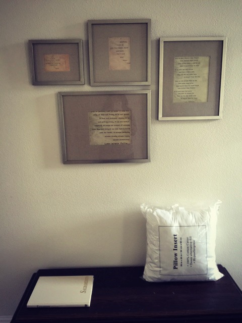 Framed Love Poems